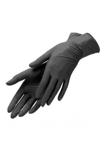Перчатки нитриловые Nitrimax черные 50 пар/100 шт.