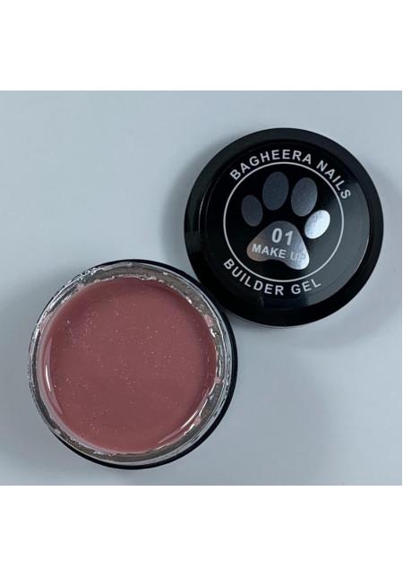 Builder gel make-up 01, гель для моделирования ногтей, 14 мл